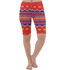 Rhombus Rectangles And Triangles Cropped Leggings