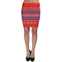 Rhombus rectangles and triangles Bodycon Skirt