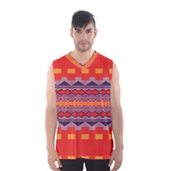 Rhombus rectangles and triangles Men s Basketball Tank Top