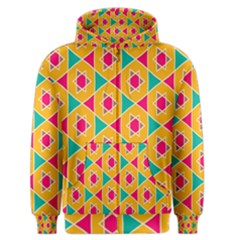 Colorful Stars Pattern Men s Zipper Hoodie