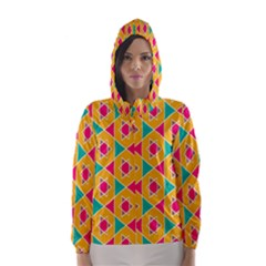 Colorful stars pattern Hooded Wind Breaker (Women)