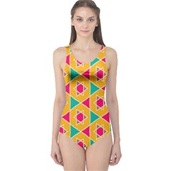 Colorful Stars Pattern Women s One Piece Swimsuit