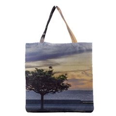 Sunset Scene At Boardwalk In Montevideo Uruguay Grocery Tote Bags