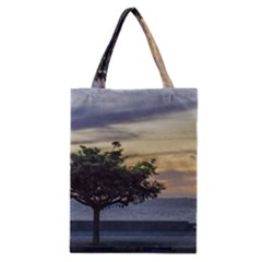 Sunset Scene at Boardwalk in Montevideo Uruguay Classic Tote Bags
