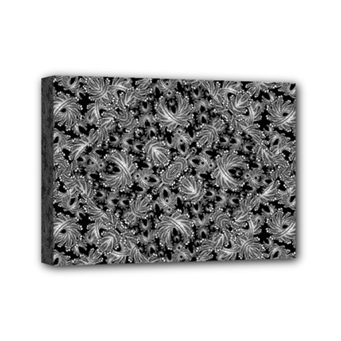 Luxury Patterned Modern Baroque Mini Canvas 7  x 5