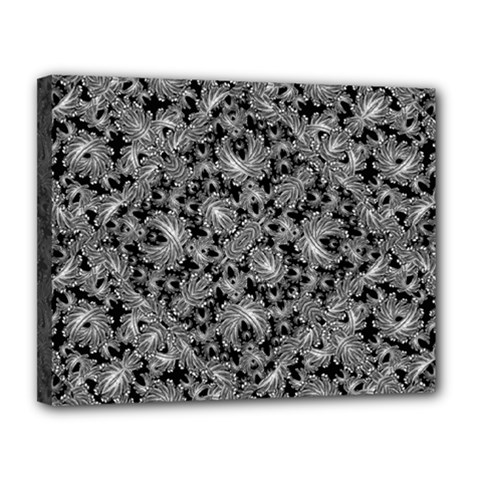 Luxury Patterned Modern Baroque Canvas 14  X 11