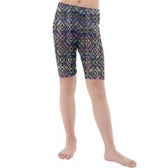 Luxury Patterned Modern Baroque Kid s Mid Length Swim Shorts
