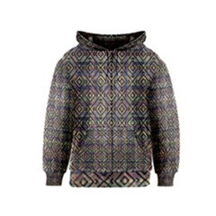 Luxury Patterned Modern Baroque Kids Zipper Hoodies