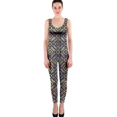 Luxury Patterned Modern Baroque OnePiece Catsuits