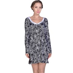 Luxury Patterned Modern Baroque Long Sleeve Nightdresses