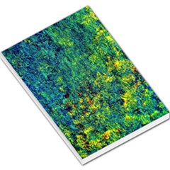 Flowers Abstract Yellow Green Large Memo Pads