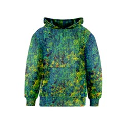 Flowers Abstract Yellow Green Kid s Pullover Hoodies