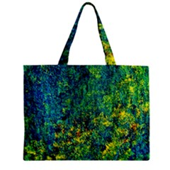 Flowers Abstract Yellow Green Zipper Tiny Tote Bags