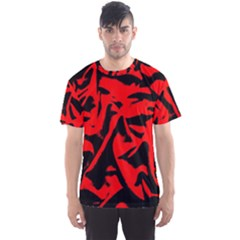 Red Black Retro Pattern Men s Sport Mesh Tees