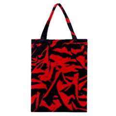Red Black Retro Pattern Classic Tote Bags