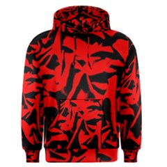 Red Black Retro Pattern Men s Pullover Hoodies