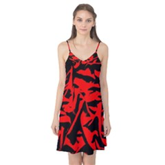 Red Black Retro Pattern Camis Nightgown