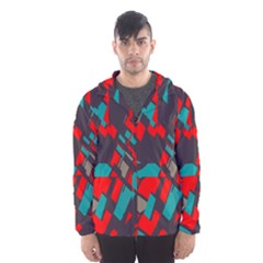 Red blue pieces Mesh Lined Wind Breaker (Men)