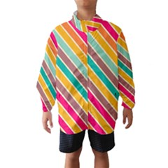 Colorful diagonal stripes Wind Breaker (Kids)