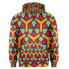 Honeycombs triangles and other shapes pattern Men s Pullover Hoodie