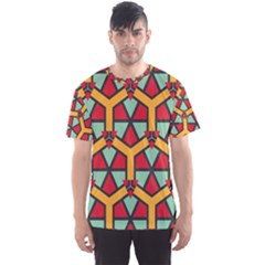 Honeycombs Triangles And Other Shapes Pattern Men s Sport Mesh Tee