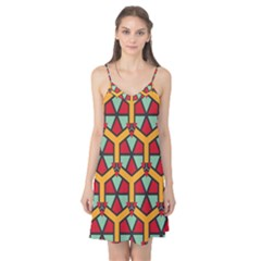 Honeycombs Triangles And Other Shapes Pattern Camis Nightgown