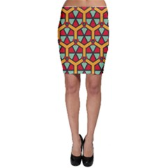Honeycombs triangles and other shapes pattern Bodycon Skirt