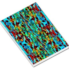 Turquoise Blue Green  Painting Pattern Large Memo Pads