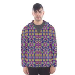 Ethnic Modern Geometric Patterned Hooded Wind Breaker (Men)