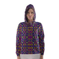 Ethnic Modern Geometric Patterned Hooded Wind Breaker (Women)