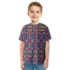 Ethnic Modern Geometric Patterned Kid s Sport Mesh Tees