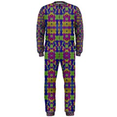Ethnic Modern Geometric Patterned OnePiece Jumpsuit (Men)