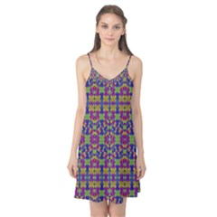 Ethnic Modern Geometric Patterned Camis Nightgown