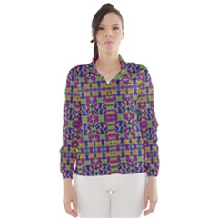 Ethnic Modern Geometric Patterned Wind Breaker (Women)