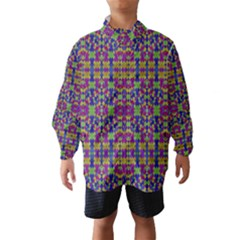 Ethnic Modern Geometric Patterned Wind Breaker (Kids)