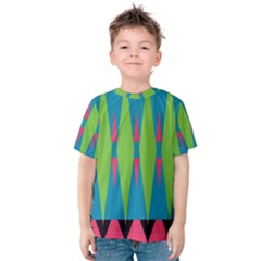 Connected rhombus Kid s Cotton Tee