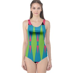 Connected Rhombus Women s One Piece Swimsuit