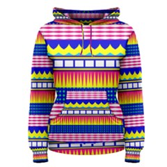 Rectangles waves and circles Women s Pullover Hoodie