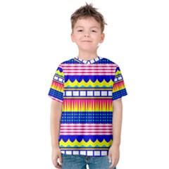 Rectangles waves and circles Kid s Cotton Tee