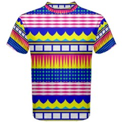 Rectangles Waves And Circles Men s Cotton Tee