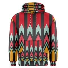 Waves And Other Shapes Pattern Men s Pullover Hoodie
