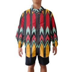 Waves and other shapes pattern Wind Breaker (Kids)