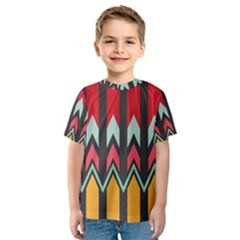 Waves and other shapes pattern Kid s Sport Mesh Tee