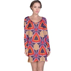 Triangles Honeycombs And Other Shapes Pattern Nightdress