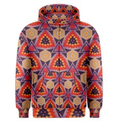 Triangles Honeycombs And Other Shapes Pattern Men s Zipper Hoodie