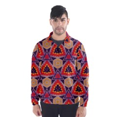 Triangles honeycombs and other shapes pattern Wind Breaker (Men)