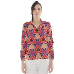 Triangles Honeycombs And Other Shapes Pattern Wind Breaker (women)