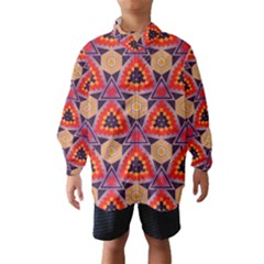 Triangles honeycombs and other shapes pattern Wind Breaker (Kids)
