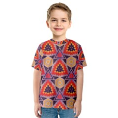 Triangles honeycombs and other shapes pattern Kid s Sport Mesh Tee