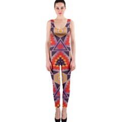 Triangles Honeycombs And Other Shapes Pattern Onepiece Catsuit